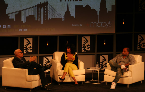 Larry Wilmore talks with Tracee Ellis Ross and Kenya Barris about their ABC show Blackish