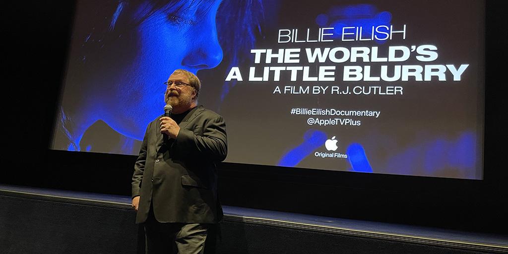 RJ Cutler introducing his film