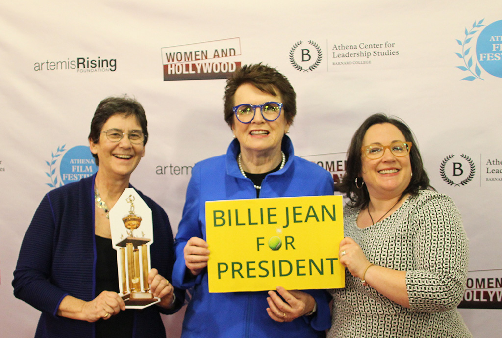 Kathryn Kolbert, Billie Jean King, and Melissa Silverstein
