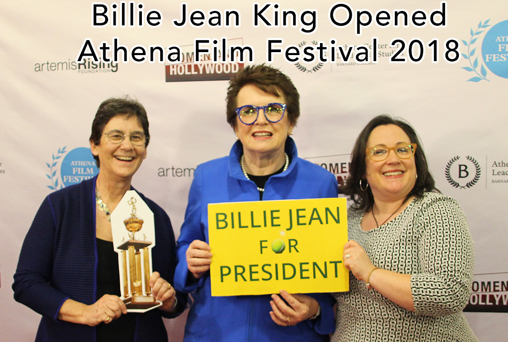 Billie Jean King Opened Athena Film Festival 2018