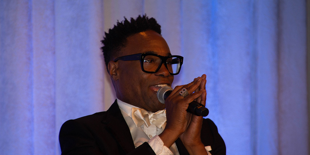 Billy Porter at the NAB Show at Javits Convention Center. October 17, 2019