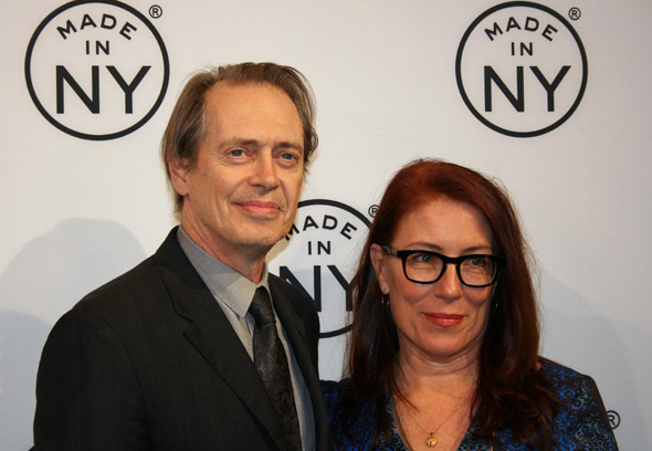 Made In NY Award Honoree Steve Buscemi and his wife Jo Andres