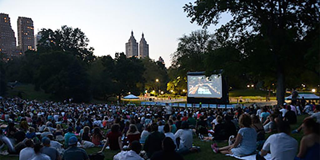 Central Park movie screening