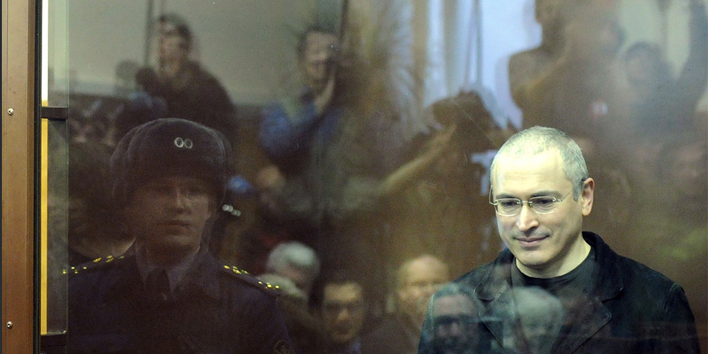 Still from Citizen K - Mikhail Khodorkovsky