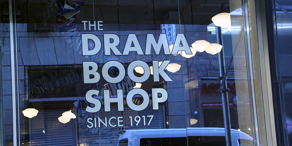 Storefront for the new location of The Drama Book Shop