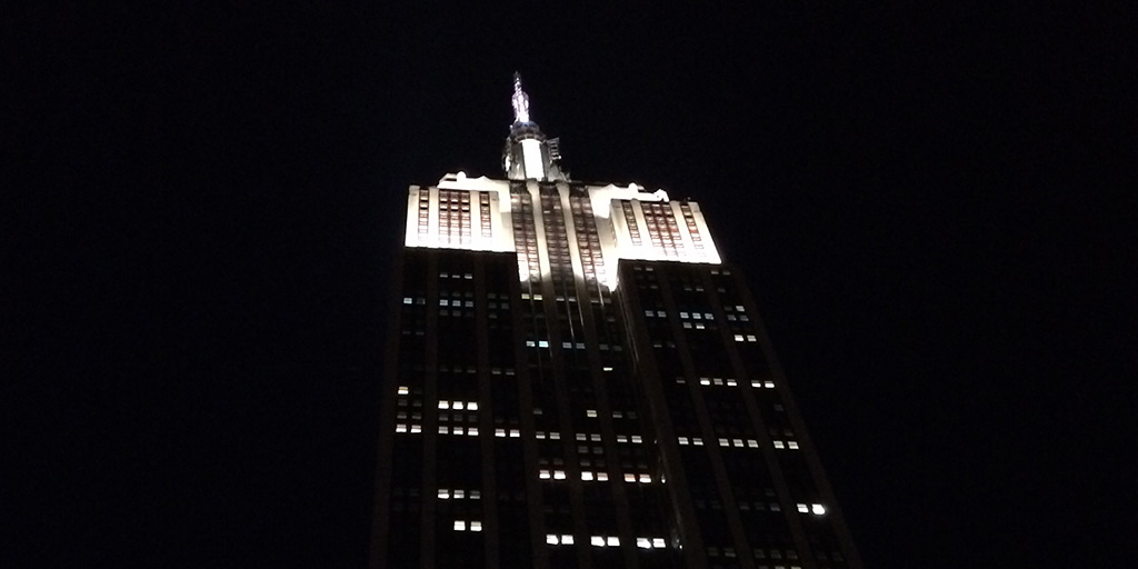 Empire State Building night.
