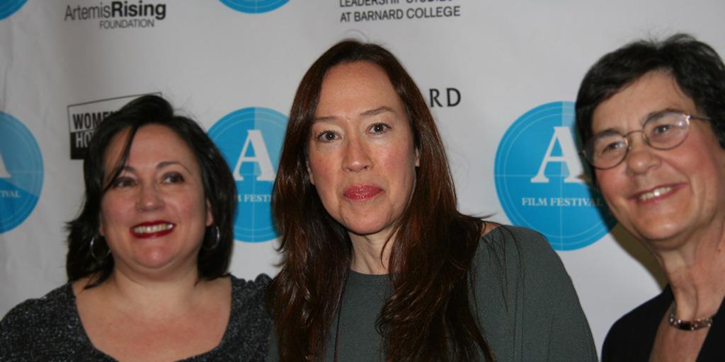 Karyn Kusama (center) at the Athena Film Festival 2016.