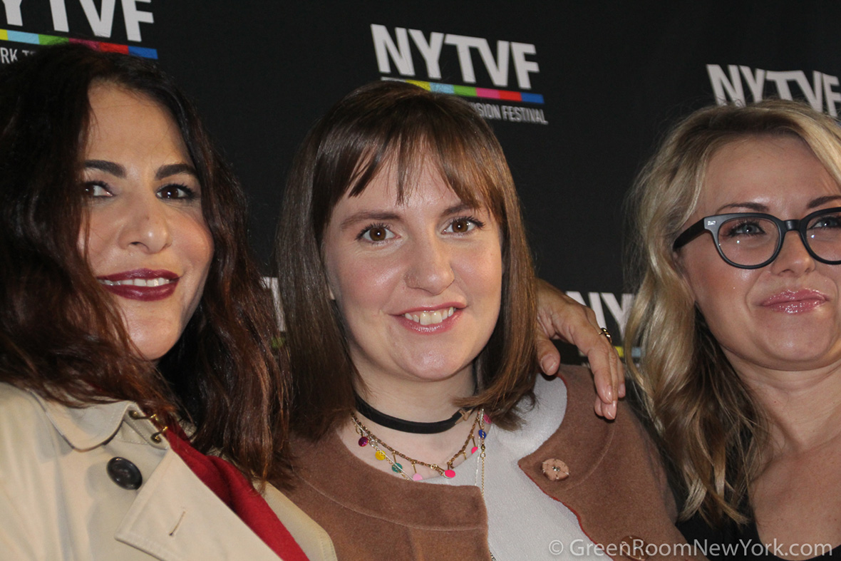 Jenni Konner, Lena Dunham, and Kathleen McCaffrey at the 2016 New York Television Festival