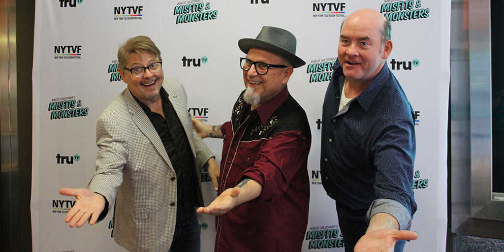 Dave Foley, Bobcat Goldthwait, and David Koechner on the red carpet at the New York Television Festival - July 17, 2018.