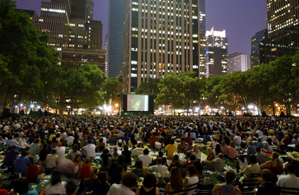 Movies Under the Stars is expanding its outdoor movie screening program to more parks in the city.  Photo courtesy of NYC Parks.
