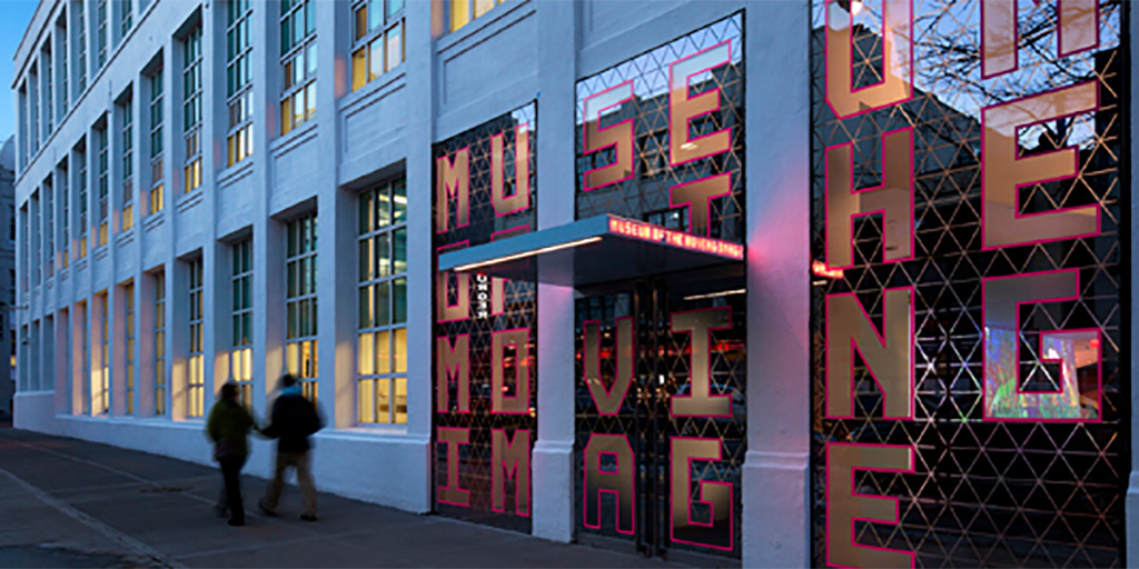 Sidewalk view of the Museum of the Moving Image