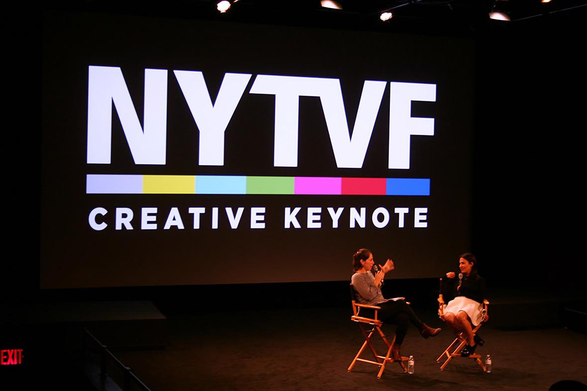 Showrunner Jenni Konner (HBO's <i>Girls</i>) at the 2014 NYTVF.