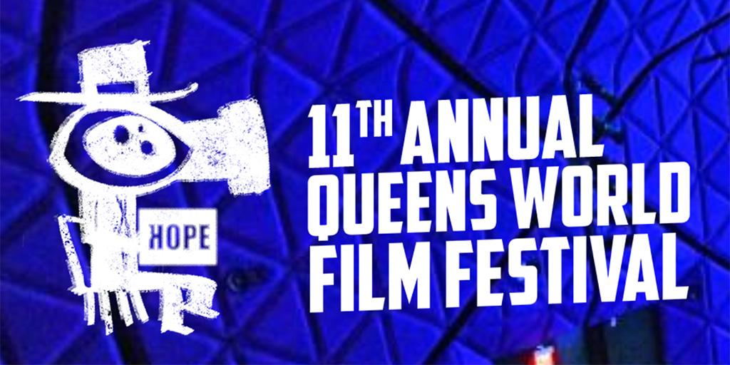 Queens World Film Festival 2021 logo themed HOPE