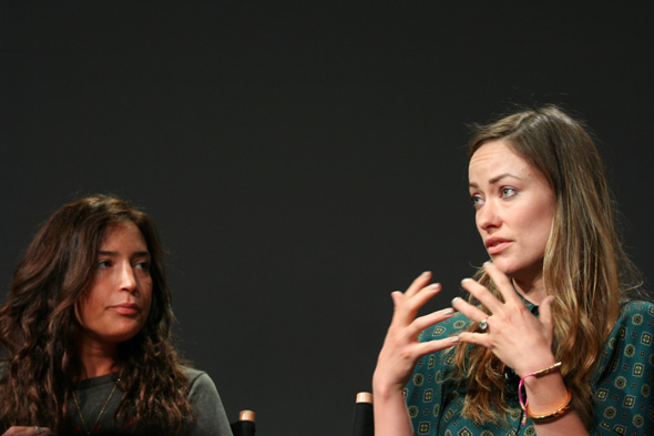 Director Reed Morano and actress Olivia Wilde talk about Meadowland at the Apple Store SoHo on April 16, 2015. Photo: Kimberly Burke