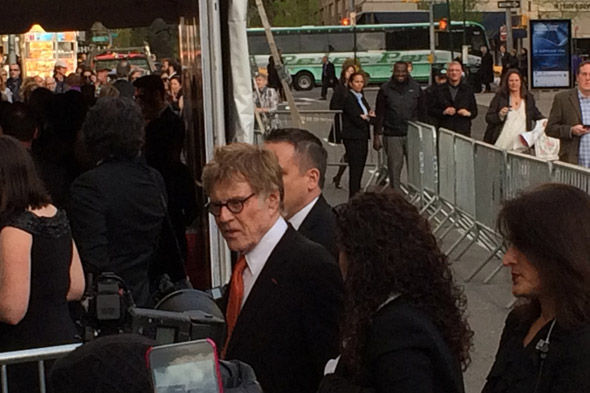 Robert Redford outside Alice Tully Hall on his way to receiving the Charlie Chaplin Award from the Film Society at Lincoln Center - April 27, 2015.