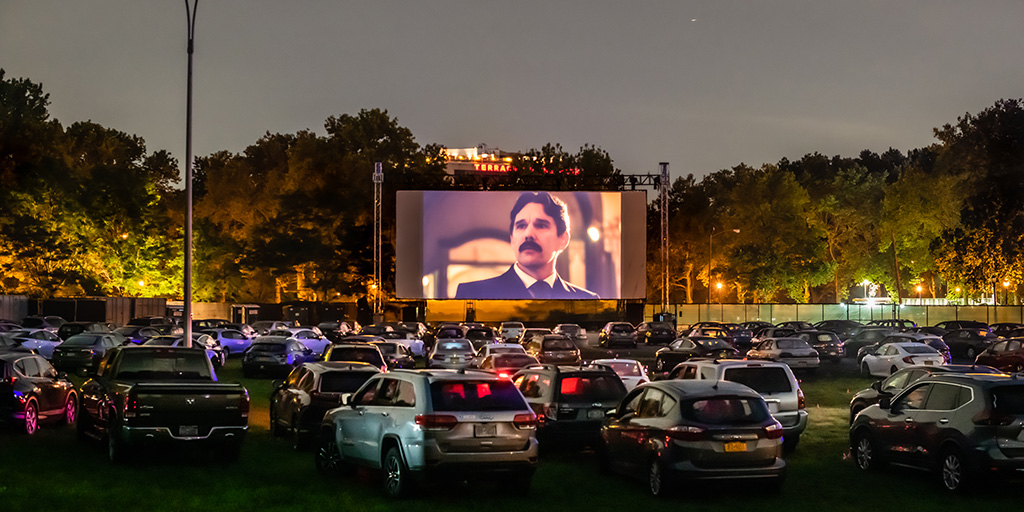 Queens Drive-In screening of Tesla at Museum of Science by Rooftop Films and Museum of Moving Image.