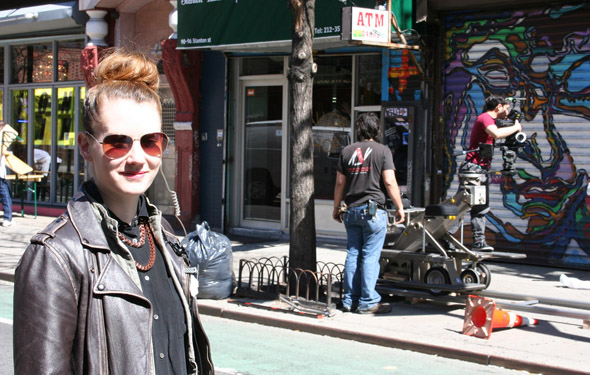 Producer Gillian Todd of Round Seven Films on the set of The Life of Death - April 29, 2015