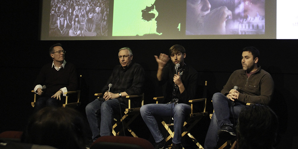 Thom Powers, Rick Crom, Aaron Rosenbloom, and Dustin Sussman - Oh, Rick! screening at IFC Center - March 6, 2018