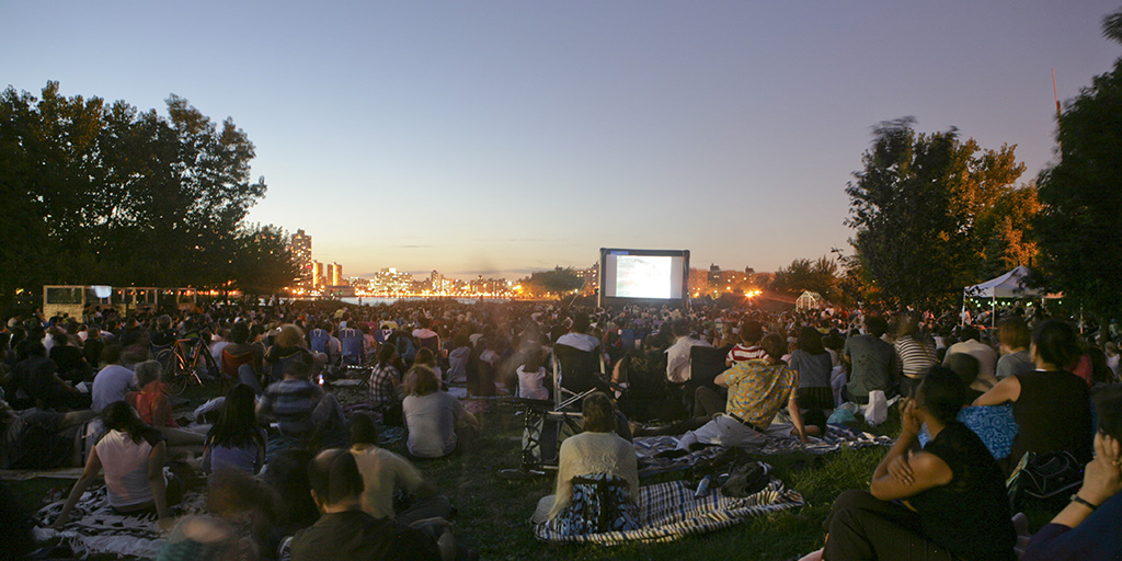 Movie screening at Socrates Sculpture Park