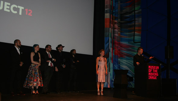 Left to right: Sal Milazzo, Mary Ann Benedetto, Sean Donnelly, Mike Free, Evan Roumeliotis, Michelle Amara Micca, and Adam Bagy