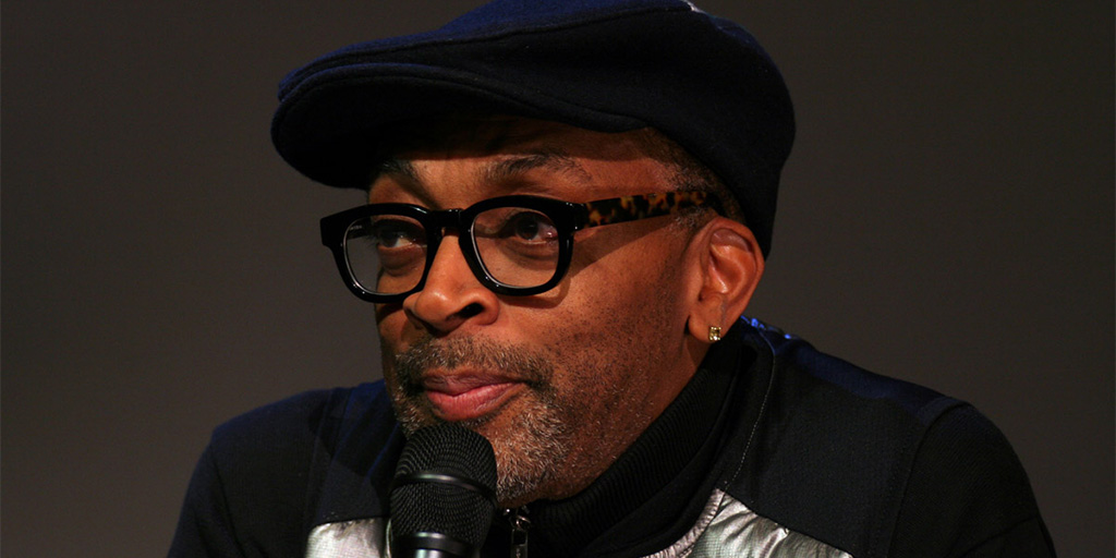 Spike Lee promoting Da Sweet Blood of Jesus at the SoHo Apple Store 2015.