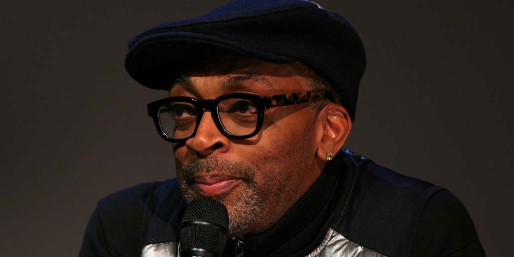 Spike Lee promoting Da Sweet Blood of Jesus at the Apple Store in SoHo - February 9, 2015.