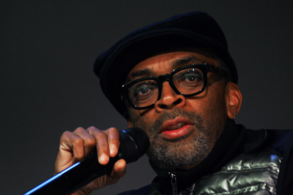 Spike Lee talks about his latest Joint - Da Sweet Blood of Jesus at the Apple Store in SoHo on Monday, February 9