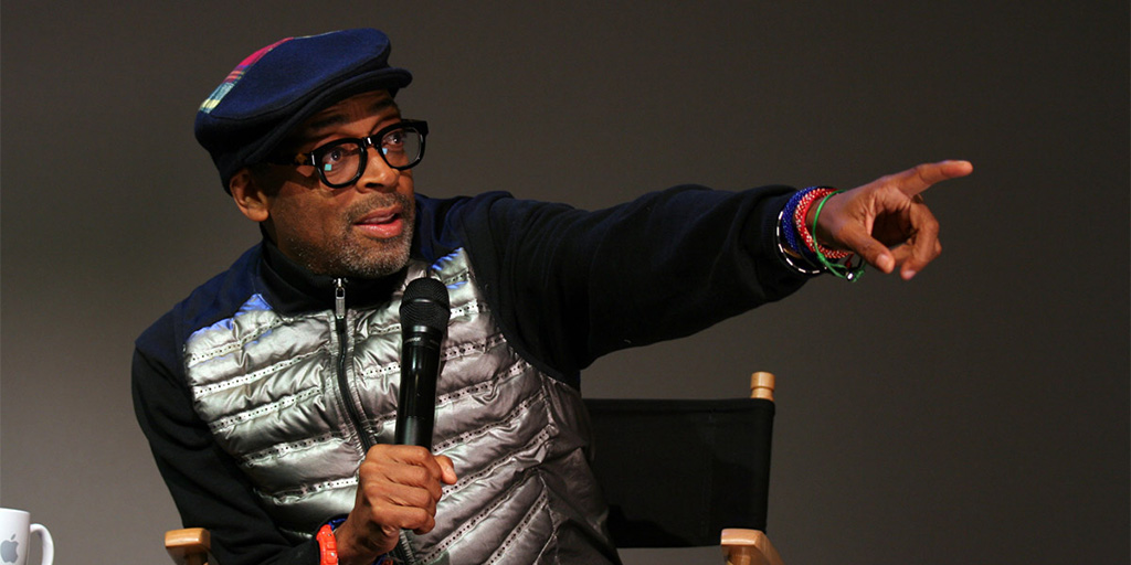 Spike Lee promoting Da Sweet Blood of Jesus. Apple Store SoHo - February 9, 2015