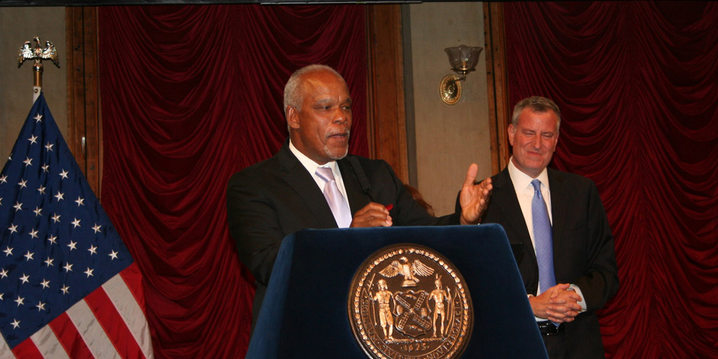 Stanley Nelson accepting Made in New York Award 2014