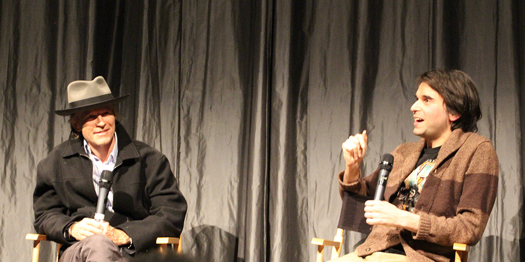 Eric Stoltz and Alex Ross Perry during a Q&A following a screening of Her Smell at IFC Center. - April 11, 2019