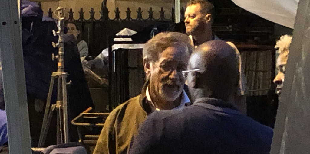Steven Spielberg on set of West Side Story shooting on Upper West Side. - July 23, 2019