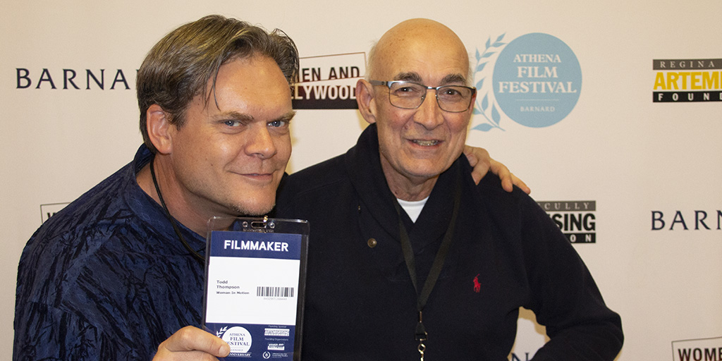 Director Todd Thompson and Executive Producer Vincent Scuro at the Athena Film Festival. March 1, 2020